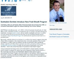 fresh breath program,dentists in scottsdale,halitosis
